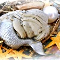 Meerjungfrau silbern
