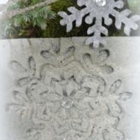 Betontopf Schneeflocke