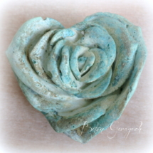 Rose blau patiniert