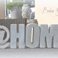 Betonbuchstaben @HOME