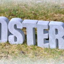 Betonbuchstaben #OSTERN
