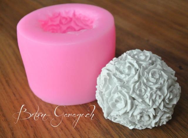 silikonform rosenkugel