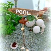 Schwemmholztafel Pool