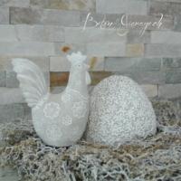 Ei und Hahn geblumt aus Beton beton-garage (1)