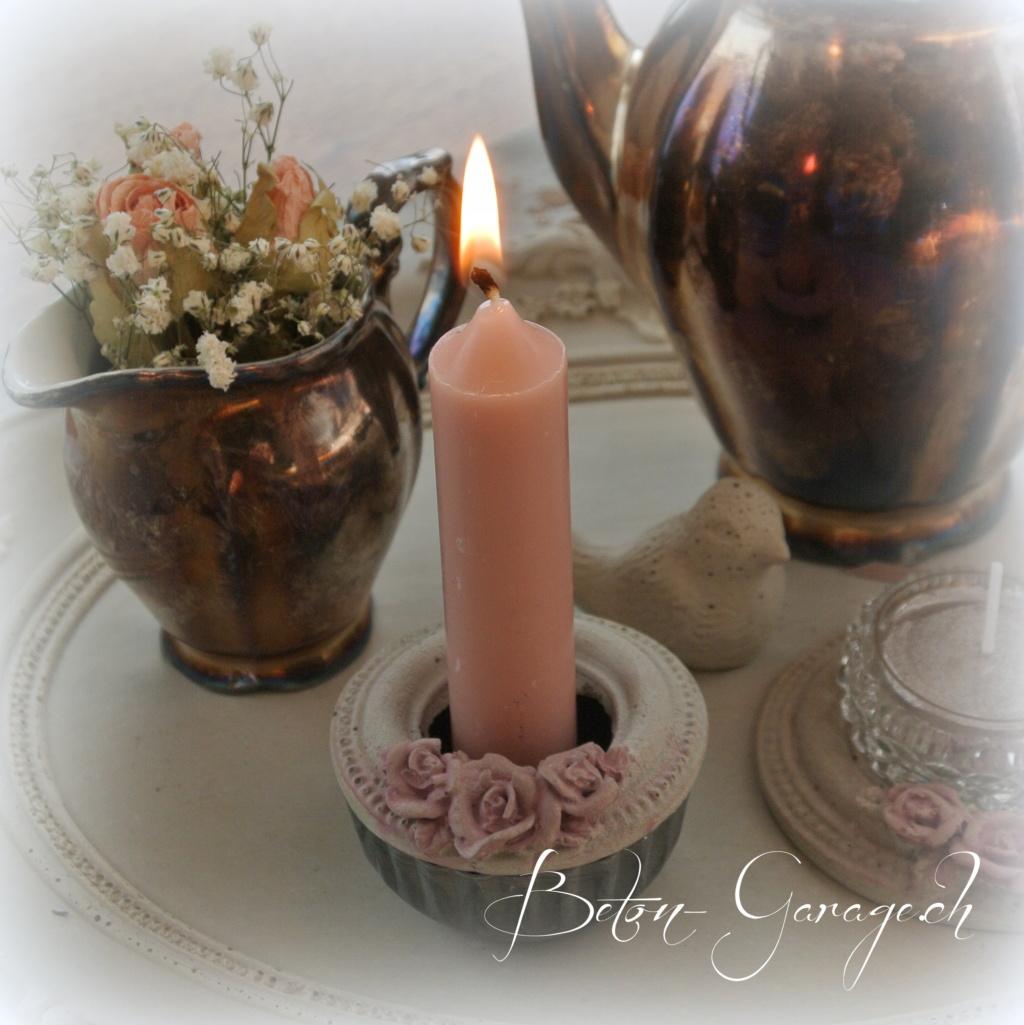Kerzenhalter für Stabkerzen | Beton-Garage