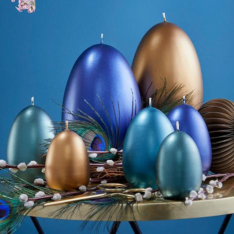 Eierkerzen gelackt